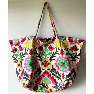 Handmade Floral Large Tote Travel Shopper Bag